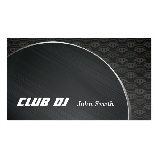 Skull background club dj music business cards zazzle for Music business card background