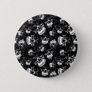 skull background pinback button