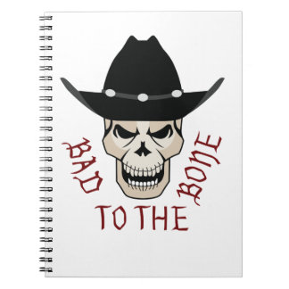 SKULL BAD TO THE BONE SPIRAL NOTEBOOK