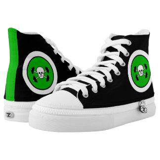 Skull & Barbell Hi-Top Kicks Printed Shoes