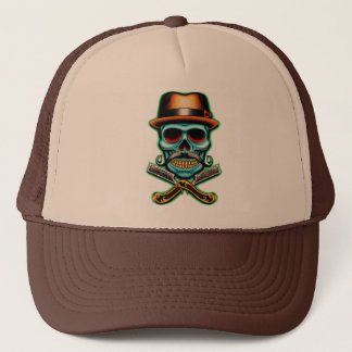 Skull Barber Trucker Hat