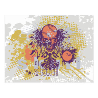 Skull Baseball Tshirts and Gifts Postcard