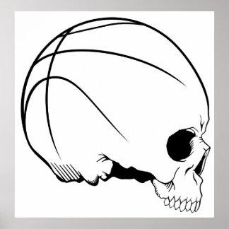 skull basketball poster