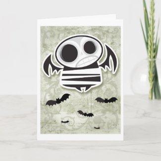 Skull bat card card