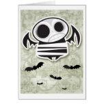 Skull bat card