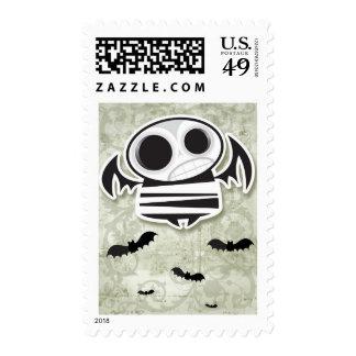 Skull bat stamps