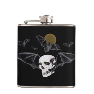 Skull Bats and Moon Mosh Flask