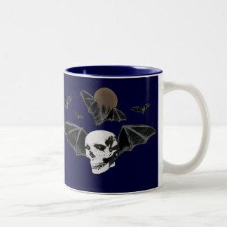 Skull, Bats and Moon Mug