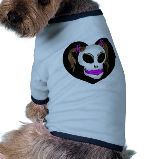 skull beauty-1 dog shirt