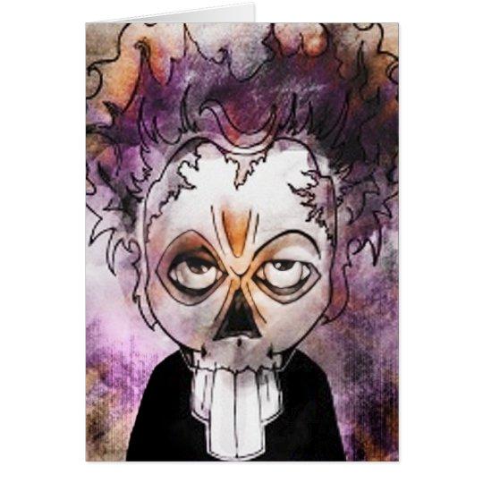 Skull beetle Halloween Card