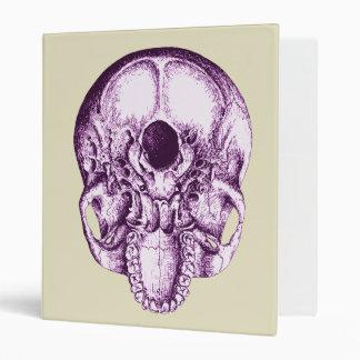 Skull Below Purple 3 Ring Binder