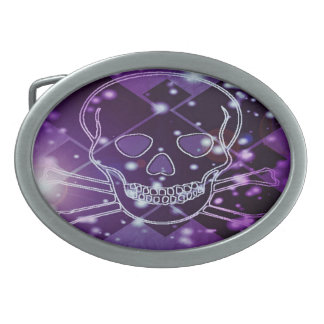 skull oval belt buckle