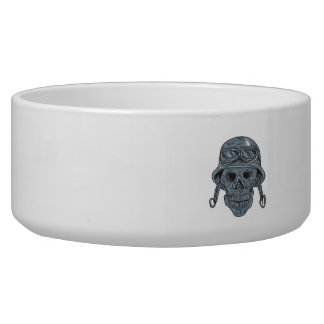 Skull Biker Helmet Drawing Bowl
