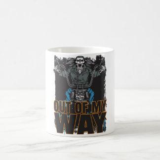 Skull Biker Out Of My Way Motorcycle Coffee Mug
