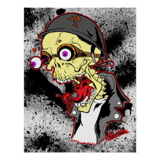 Skull Biker Print