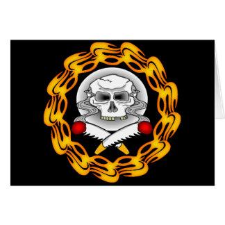 Skull Biker T shirts Gifts Card