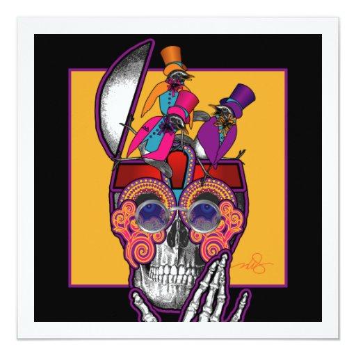 Skull Bird Brain Invitation