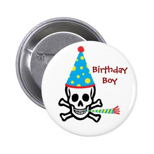 Skull Birthday Boy Pin