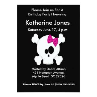 Skull Birthday Party Invitation