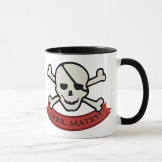 Skull - Black 11 oz Ringer Mug