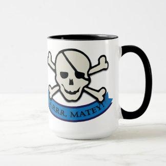Skull - Black 15 oz Ringer Mug