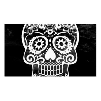 Skull,black and white 04 business card