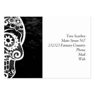 Skull,black and white 04 business card template