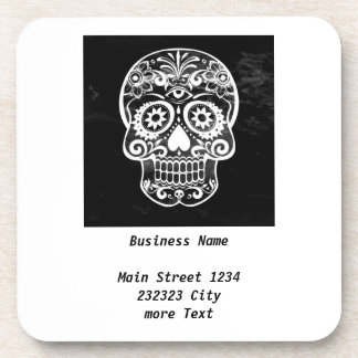 Skull,black and white 04 coasters