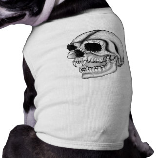 Skull - black and white design tee