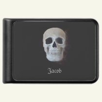Skull Black And White Gothic Power Bank