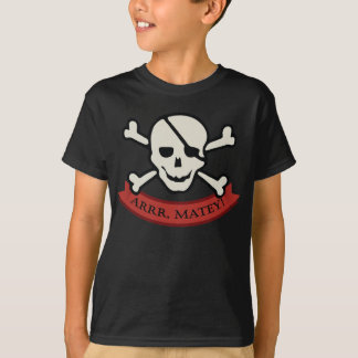 Skull - Black Kids' Basic Hanes Tagless T-Shirt
