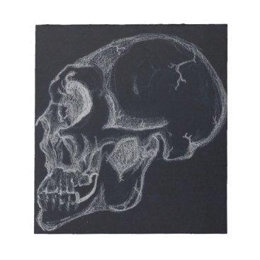 skull black notepad