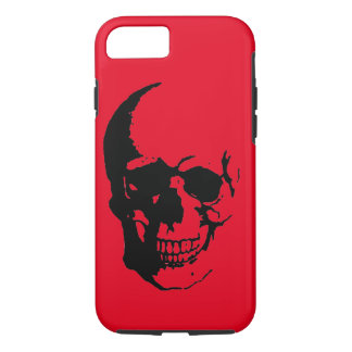 Skull - Black Red Heavy Metal Rock Fantasy Pop Art iPhone 7 Case