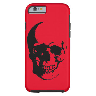 Skull - Black Red Heavy Metal Rock Fantasy Pop Art Tough iPhone 6 Case