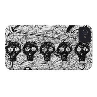 Skull Black Scratch iPhone 4 Case-Mate Case