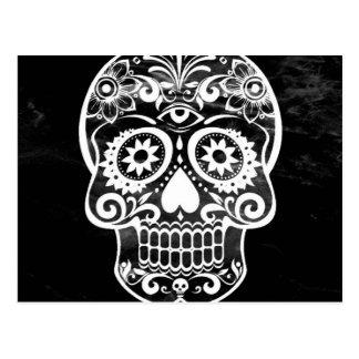 Skull, black white04 postcard