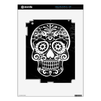 Skull, black white04 decals for the iPad 2