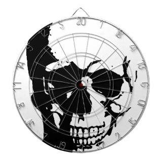 Skull - Black & White Metal Fantasy Art Dartboards