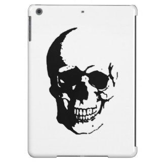 Skull Black White Metal Fantasy Art iPad Air Case