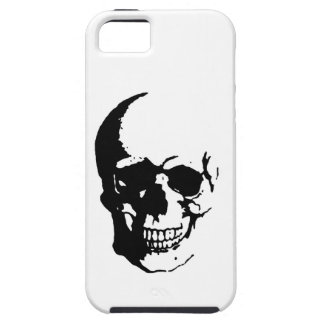 Skull - Black & White Metal Fantasy Art iPhone SE/5/5s Case