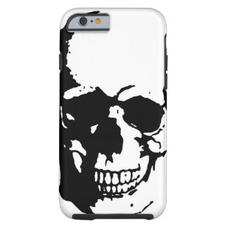 Skull - Black & White Metal Fantasy Art Tough iPhone 6 Case
