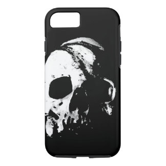 Skull Black White Metal Rock Fantasy Pop Art iPhone 7 Case