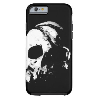 Skull Black White Metal Rock Fantasy Pop Art Tough iPhone 6 Case