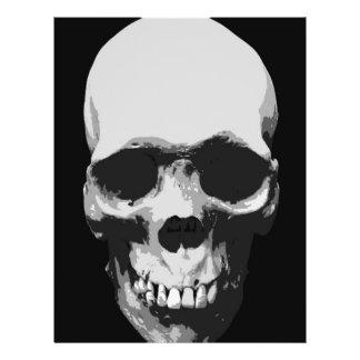 Skull Black & White Pop Art Flyer