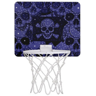 Skull Bling Pattern Mini Basketball Hoops