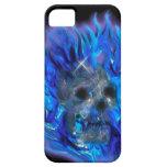 SKULL & BLUE FLAMES Fantasy Art iPhone 5 Case