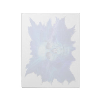 Skull blue flash Notepad (2) sizes