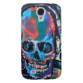 Skull, blue music Graffiti street art, urban goth Samsung Galaxy S4 Cases