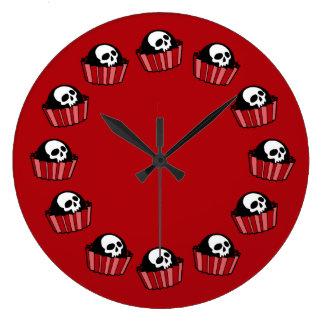 Skull BonBons Large Clock