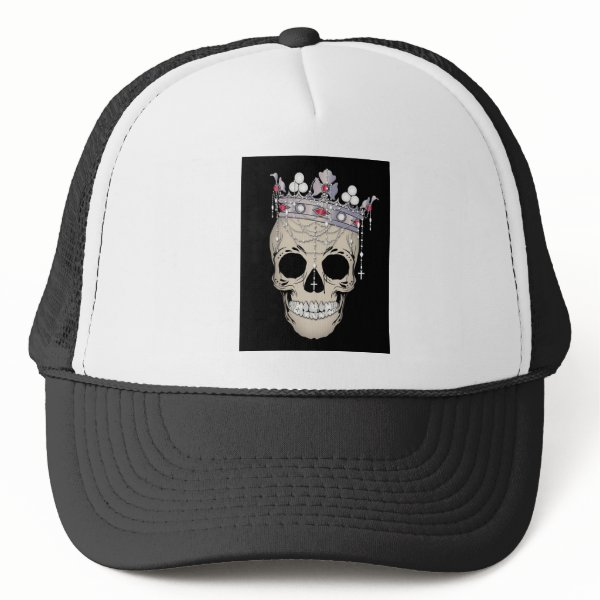 Skull Bone Frame Halloween Horror Crown Trucker Hat